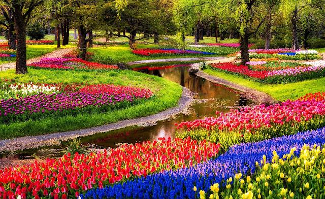 Parque Keukenhof em abril em Amsterdã