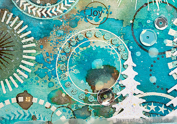 Layers of ink - Textured Circle Background Tutorial by Anna-Karin Evaldsson.