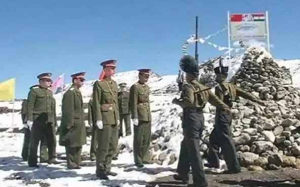 indian and chinese security forces meeting on border near LAC