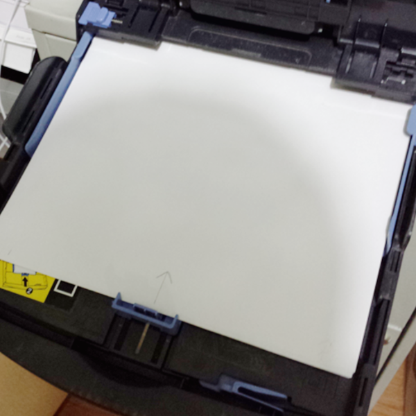 how to put paper in printer to print double sided
