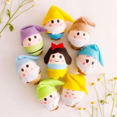 Easter egg decorating ideas for kid. Герои мультфильмов на пасхальных яйцах.