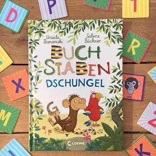 """""""Buchstabendschungel"""" von Ursula Poznanski, illustriert von Sabine Büchner, erschienen im Loewe Verlag"""