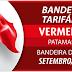Bandeira acionada para setembro permanece vermelha patamar 2