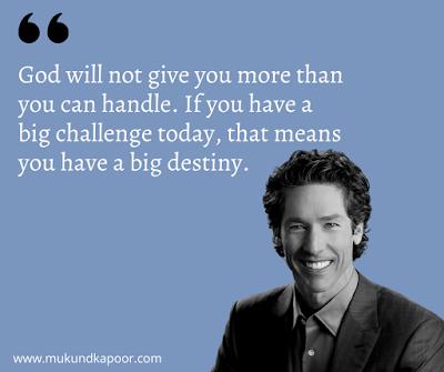 Joel Osteen Destiny Quotes