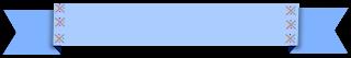 Faixa ribbon azul x - Criação Blog PNG-Free