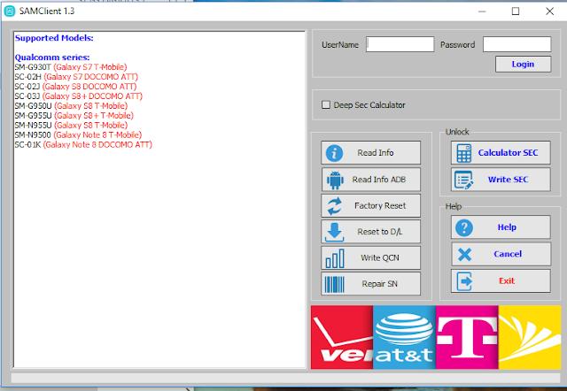 SamClient Tool V1.3