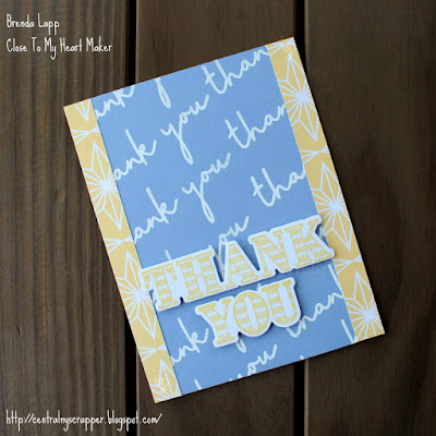 card created with Happiness Lives Here and Every Thank You