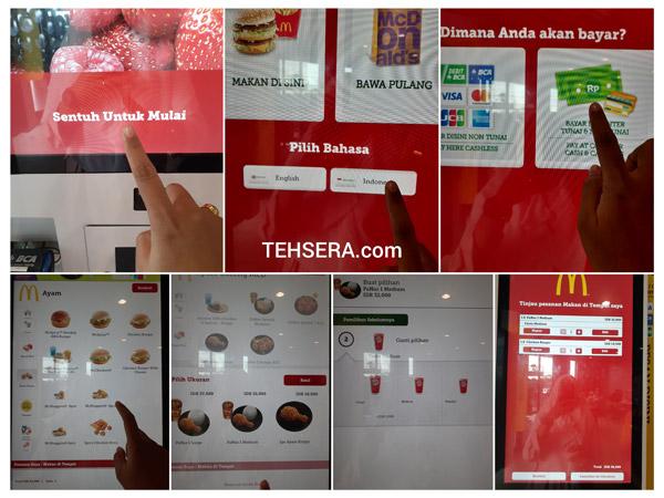 cara menggunakan self service kiosk di mcdonalds
