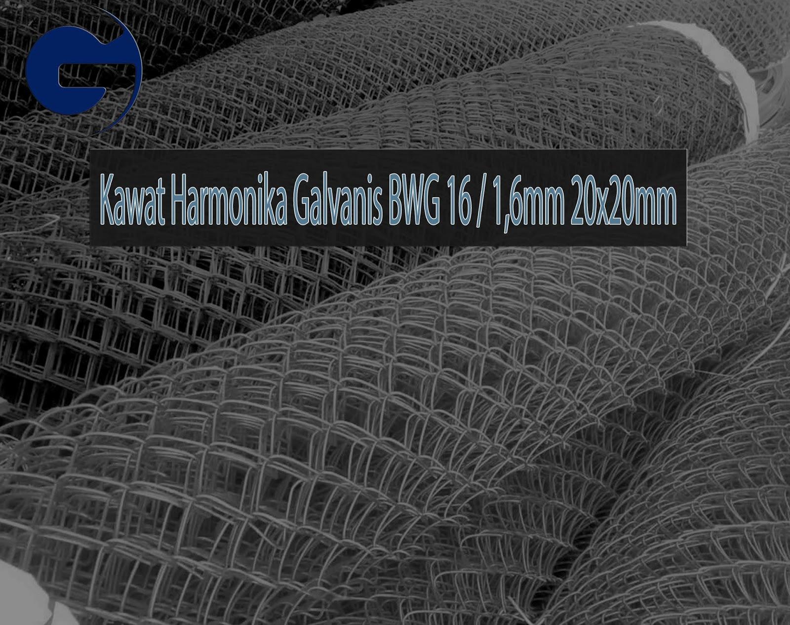 Jual Kawat Harmonika Galvanis SNI BWG 16/1,6mm 20x20mm
