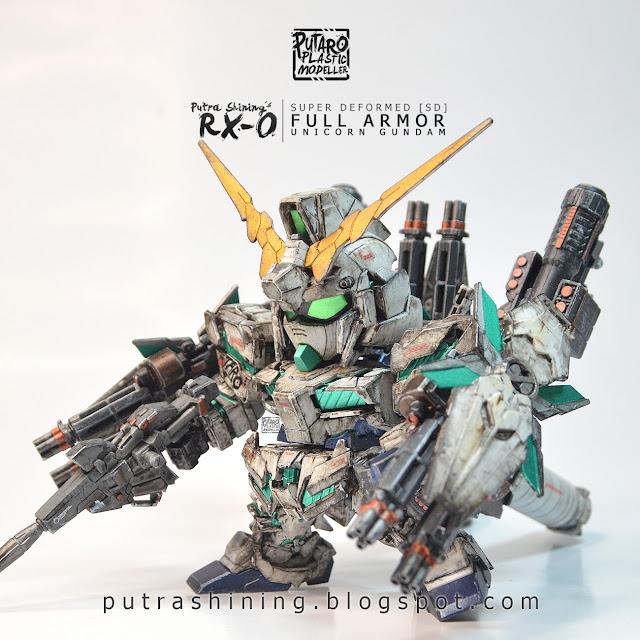 SD Full Armor RX-0 Unicorn Gundam by Putra Shining