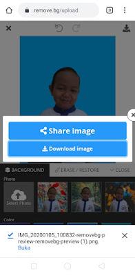 cara mengedit warna background foto lewat hp