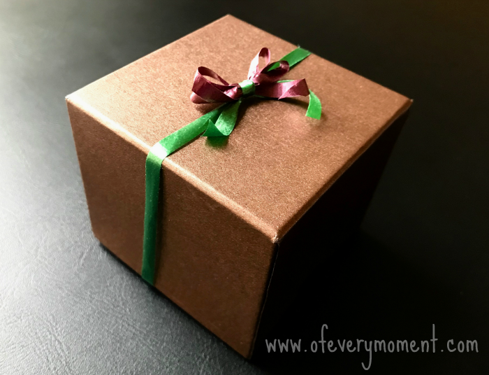 Homemade bow on a package