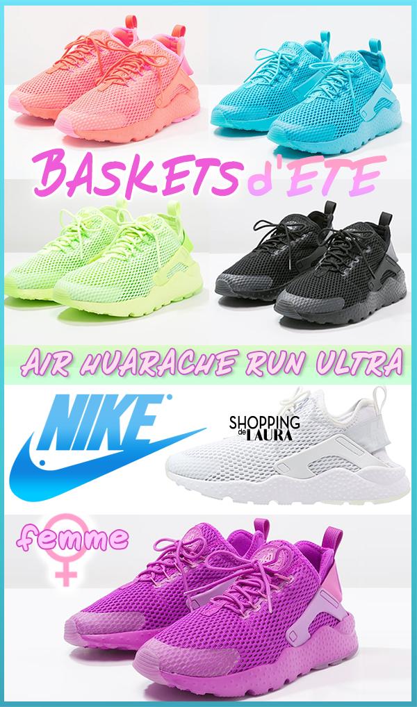Baskets d'été femme NIKE blanches, noires, turquoises, anis, violettes