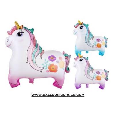 Balon Foil Karakter Unicorn Baru