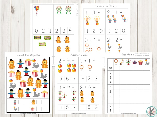 circus-math-worksheets-counting-addition-subtraction