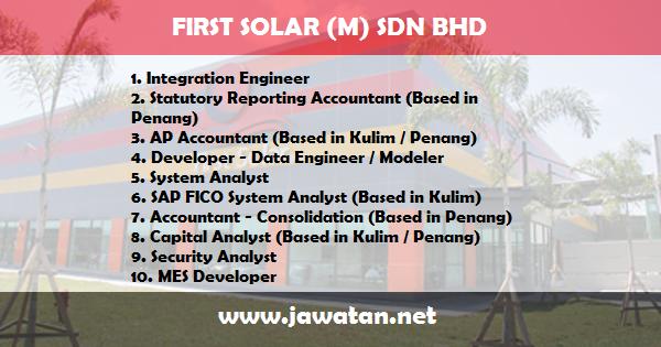 Jawatan Kosong di First Solar Malaysia Sdn Bhd