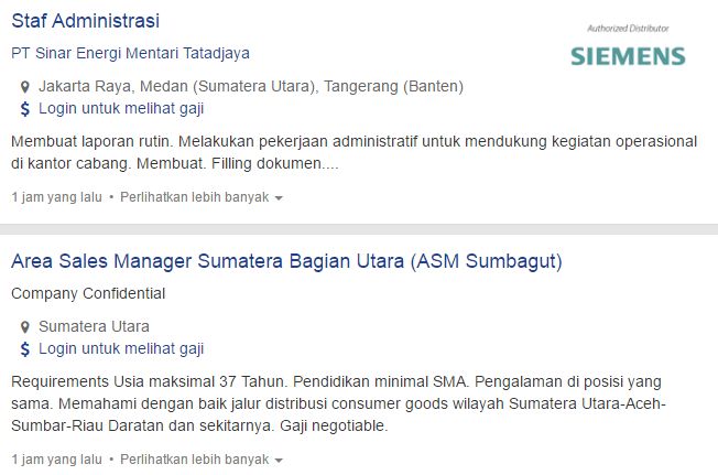 Lowongan Kerja Terbaru Kota Tanjungbalai 2019.