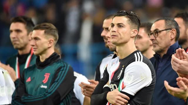 استقبال الأبطال للاتسيو بعد احراز الكأس السوبر على حساب يوفنتوس ورونالدو