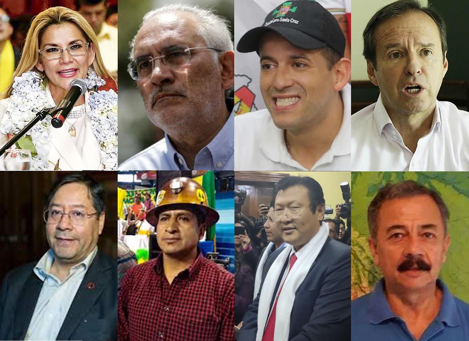 Los ocho presidenciables arrancan la campaña proselitista hoy / WEB MONTAJE