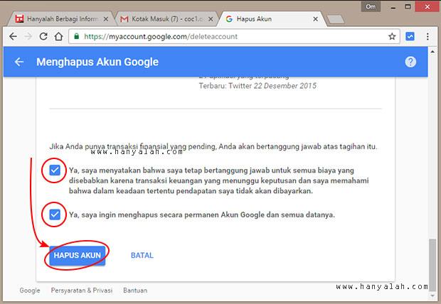 Cara Menghapus Akun Email Google Secara Permanen
