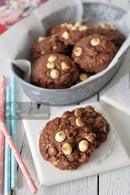 double chocolate fudge cookies