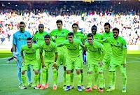 GETAFE C. F. - Getafe, Madrid, España - Temporada 2015-16 - Guaita, Álvaro Pereira, Vergini, Scepovic, Yoda y Juan Rodríguez; Emi, Wanderson, Velázquez, Álvaro Medrán y Pedro León - F. C. BARCELONA 6 (Juan Rodríguez p.p., Munir, Neymar 2, Messi, Arda Turan) GETAFE C. F. 0 - 12/03/2016 - Liga de 1ª División, jornada 29 - Barcelona, Nou Camp