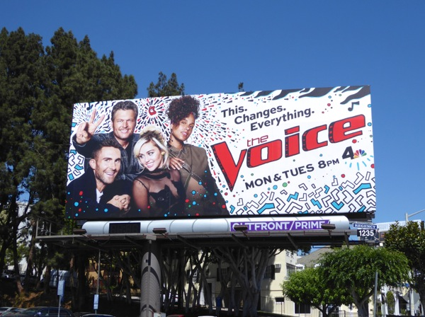 The Voice season 11 billboard