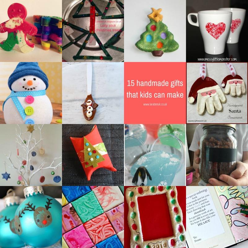 15 Christmas Gifts Kids Can Make