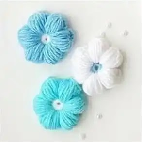 Flor Puff a Crochet