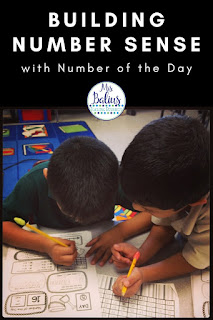 Number of the Day activities are an excellent way for students to build strong number sense skills.  These printable worksheets and digital activities will provide skills based number sense for the entire school year.
