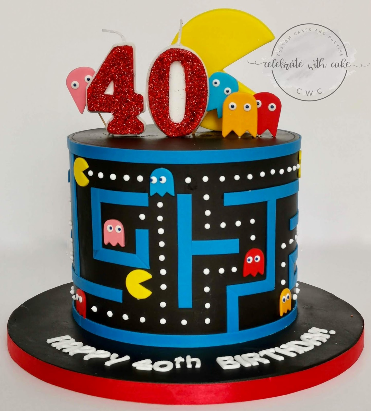 Magnificent Celebrate With Cake Pacman Single Tier Cake Funny Birthday Cards Online Alyptdamsfinfo
