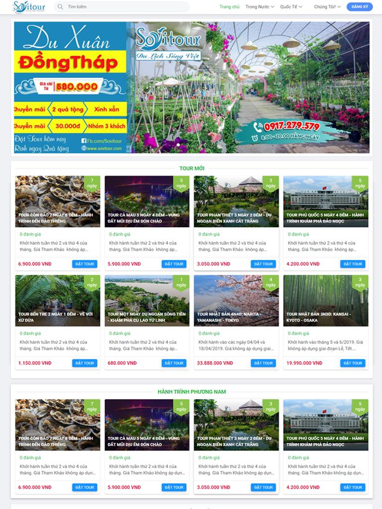 Dự án du lịch Sóng Việt nâng cấp cho khách hàng thân thiết