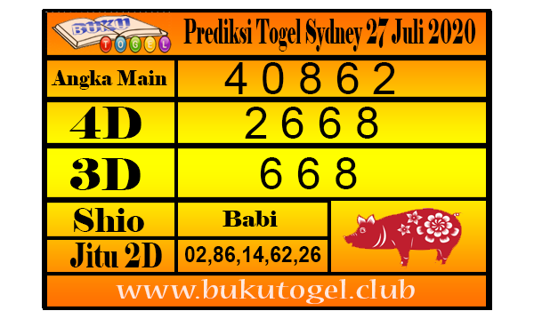 Prediksi Togel Sydney 27 Juli 2020