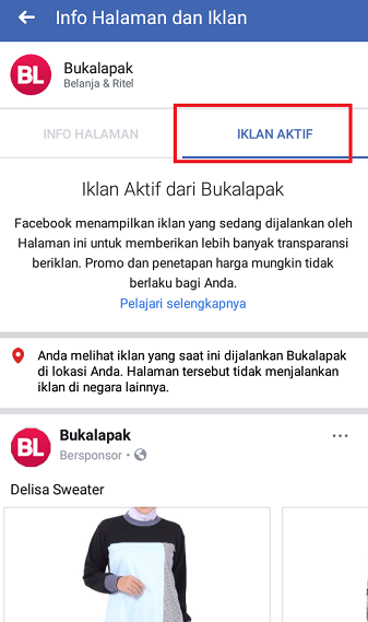 Cara Mudah Melihat Iklan Aktif Facebook yang Dijalankan Pesaing