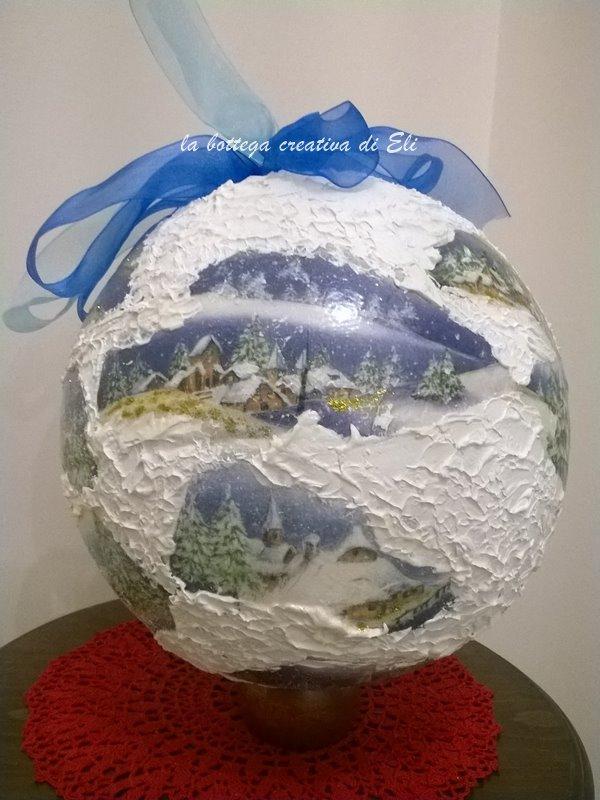 come decorare una pallina di polistirolo