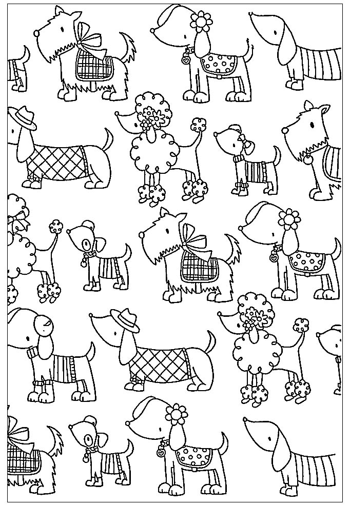 Dogs coloring pages 79