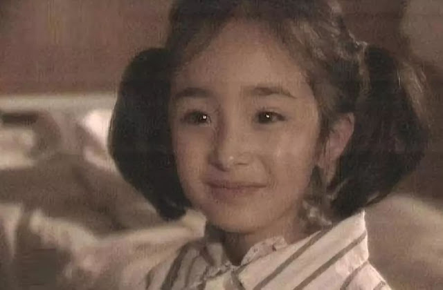 yang mi childhood photo