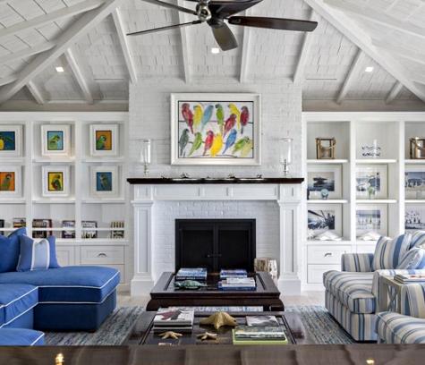 bold blue decor