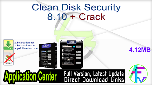 Clean Disk Security 8.10 + Crack