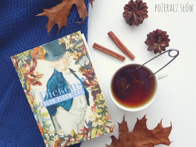 klub pickwicka, cynamon, szyszka, liście, herbata, sweter, zaparzacz do herbaty