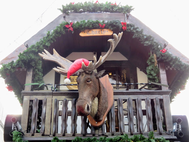 Charley the moose at the Essen International Market in the North Rhine-Westphalia region of Germany