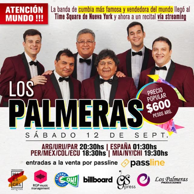 """La banda de cumbia """"Los Palmeras"""" ofrecerán un show en vivo vía streaming"""