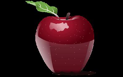clipart buah apel merah gratis