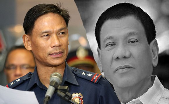 Duterte vows to lead the PNP in busting drug-related crimes.