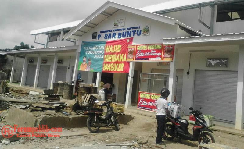 Pasar Buntu  Kemranjen Banyumas Sudah di Bangun Secara Permanen
