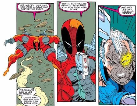 Deadpool se enfrentó a Cable en su primera aparición
