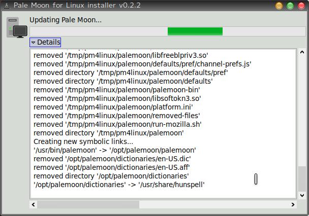 update pale moon linux