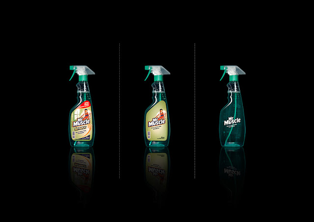 Green Pear Diaries, diseño, packaging, minimalismo, Mr. Muscle