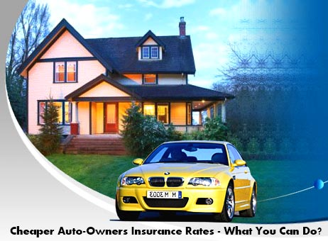 Cheaper Auto-Owners Insurance Rates - What You Can Do?