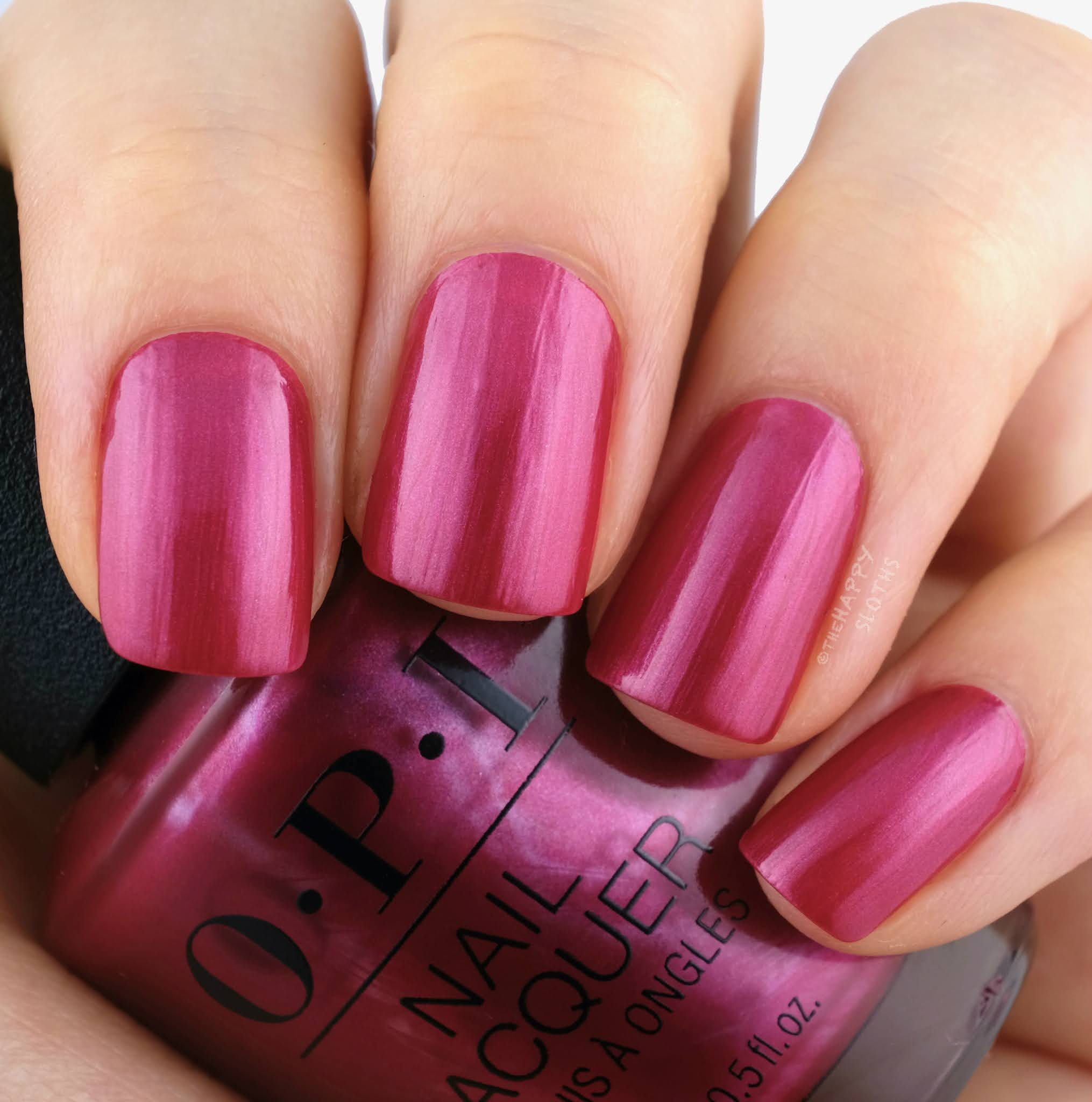 OPI Holiday 2020 Collection | Merry in Cranberry: Review and Swatches